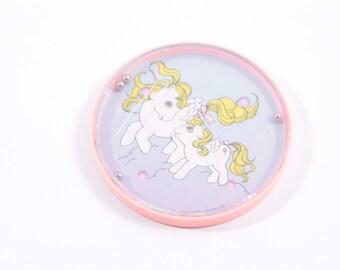Vintage My Little Pony Baby Surprise Vintage Round Maze Game - Scratch ~ Pink Room ~ 160912