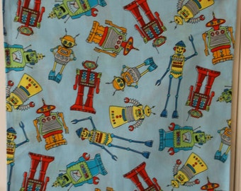 Robots Cotton Pillow #4083