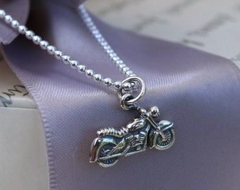 """Sterling Motorcycle Necklace - Sterling silver 18"""" chain included"""
