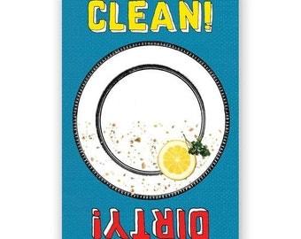 Clean & Dirty - Magnet - Humor - Gift - Stocking Stuffer