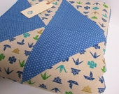 origami and arrow quilt .. cotton and linen