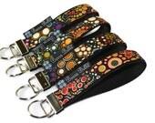 Key Fob Wristlet - Key Chain Wristlet -  Keychain - Key Fob - READY TO SHIP -  - Happy Fabric