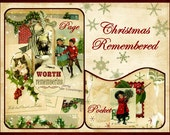 Christmas Remembered Mini Book/ Journal Kit with Pockets, Tags Traditional Digital Printable INSTANT DOWNLOAD
