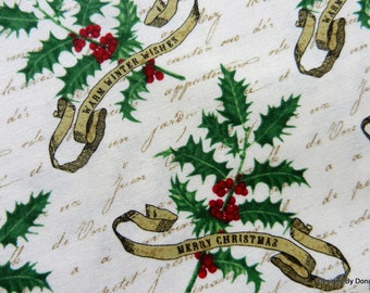 "One Yard Cut Quilt Fabric, ""Joyeux Noel"" Merry Christmas & Warm Winter Wishes from Studio E, #2988, Sewing-Quilting-Craft Supplies"