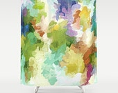 Shower Curtain, Watercolor Bathroom, Pastel Shower, Art Shower Curtain, Pastel Bathroom, Abstract Art Bath, Watercolor Bath