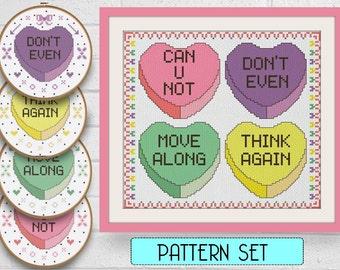 Beginner Cross Stitch - Snarky Valentine Subversive Cross Stitch Pattern Valentine's Day Embroidery Pattern Cross Stitch DIY Funny Cross