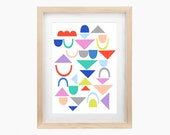 Collage Art Print 'Play' A3 archival quality giclee print wall art