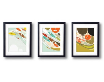 Fish Trio Prints