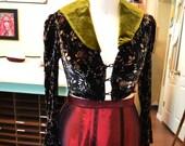 Early Edwardian Dickens Velvet Jacket or Bolero