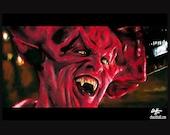 """Drucken Sie 11 x 17""""– der Herr der Finsternis - Legende Tim Curry Tom Cruise Fantasy dunkle Kunst Fantasy Surreal Teufel Satan böse Horror 80er Jahre Pop-Art Lowbrow"""