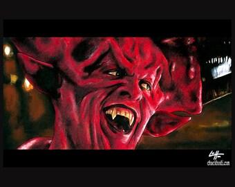"Print 11x17"" - Lord of Darkness - Legend Tim Curry Tom Cruise Fantasy Dark Art Fantasy Surreal Devil Satan Evil Horror 80s Pop Art Lowbrow"