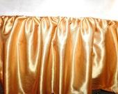 Handmade Solid Gold Satin Ruffled Crib Skirt - READY TO SHIP