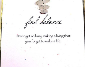 balance, inspirational necklace, friend gift, graduation gift, ready to ship gift, motivational gift