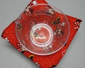 Microwave Bowl Cozy or Potholder Minnie Mouse Fabric