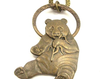 Panda Circle Pendant ... Victorian Panda Hoop Creation