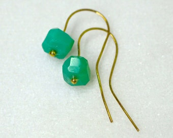 AAA Australian Chrysoprase Nugget Earrings......
