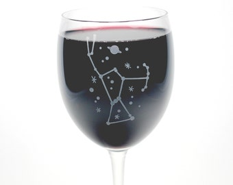 Orion Constellation Wine Glass - outer space stemware