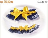 SALE 10% OFF Handmade Wedding Garter Set with San Diego Chargers fabric Keepsake and Toss ngg 0