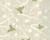 Bluebird Park by Kate and Birdie Moda Fabrics - Green Birds - by the Half Yard