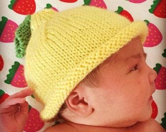 Lemon Baby Hat - Custom Knit