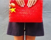 Red Island Vintage Clutch