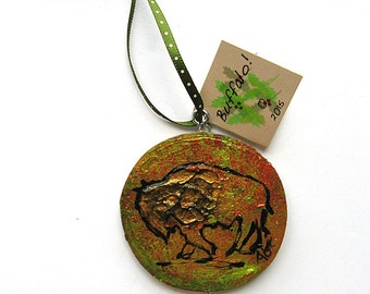 Buffalo Ornament - Christmas Ornament - Hand Painted Bison Ornament - Buffalo NY
