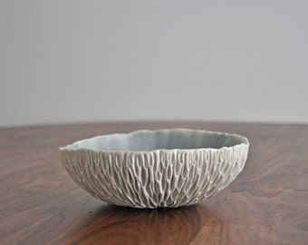 Medium Geode Bowl - Choice of Color - Small Porcelain bowl Modern Ceramic Bowl