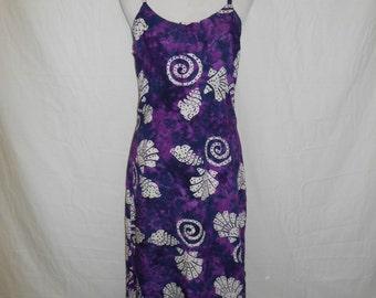 90s rayon long purple dress