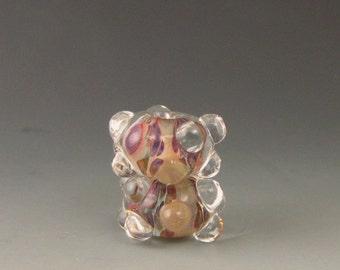 2 boro/borosilicate handmade artisan lampwork glass bead, Redside Designs, SRA