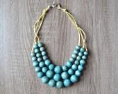 Statement Necklace - Aqua Blue