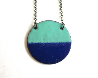 Aqua and Cobalt Blue Necklace