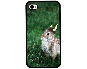 Phone Case - Viking Bunny Rabbit - Hard Case for iPhone 4, 4s, 5, 5s, 5c, 6, 6 Plus - iPod Touch 4, 5 - Galaxy S3, S4, S5
