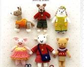 Dressed Up Animals Amigurumi using Embroidery Threads - Japanese Craft Book
