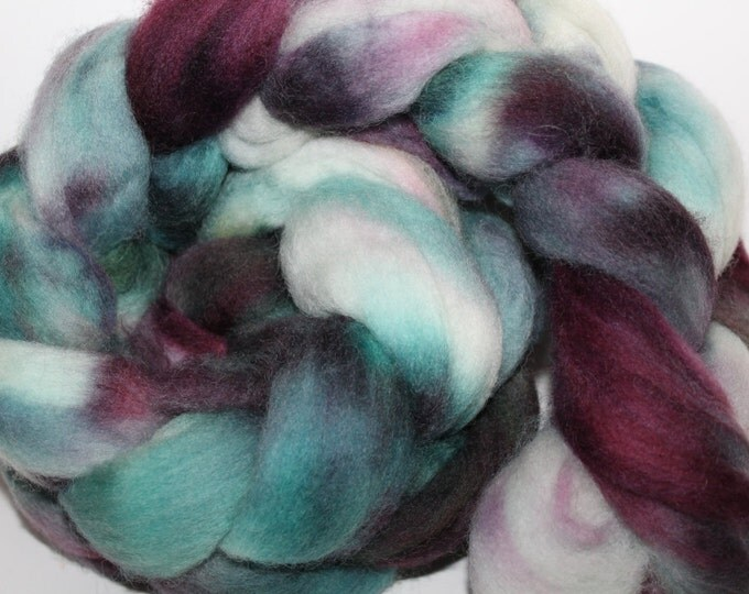 Kette Dyed Polwarth wool top. Roving. Spin. Felt. Super Soft. 4oz FREE SHIP #P29