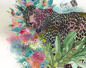 Leopard - Wall Art 8 X10 inches - Printable - Download, print and cut