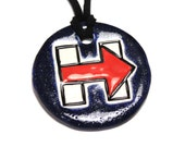 Hillary For President Ceramic Necklace
