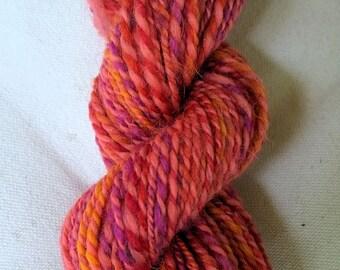 Bittersweet, handspun glittery wool yarn, 2.3 oz/62 g, 172 yds/157 m
