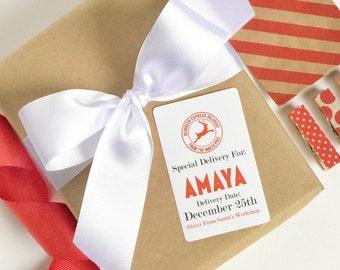 Santa Do Not Open Until December 25th Labels