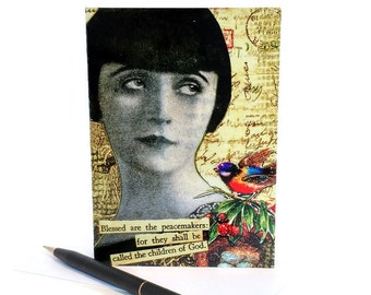 Blessed are the Peacemakers COLLAGE ART NOTECARD