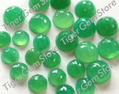 Gemstone Cabochon Chrysoprase 6mm Rose Cut Fancy FOR TWO