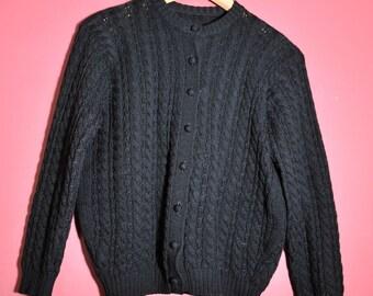 1950's Black Cardigan