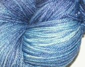 WEDGEWOOD in Hand Dyed Poet Seat Fingering Weight Superwash Merino and Silk Yarn