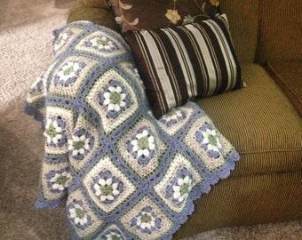 crochet, afghan, handmade, blanket, lap size