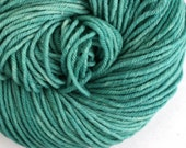 Hand Dyed Aran weight mini Empire Rambouillet Wool 213 yds 4oz Spruce