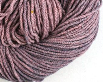 Hand Dyed Aran weight mini Empire Rambouillet Wool 213 yds 4oz Lavender