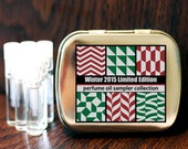 6 Perfume Oil Fragrance Samples Winter Limited Edition Collection 2014 in a Metal Tin