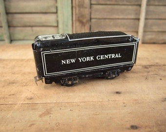 Vintage Metal Toy Train Marx New York Central Tin coal Car As-Is