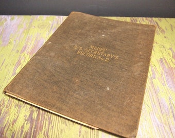 Free Shipping Vintage Sunday School Register Book Class Record Book 1929 - 30 Meigs'  S.S. Secretary's Record No 2 Free Shipping