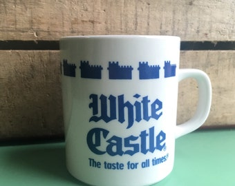 1990 White Castle Coffee Mug, Burger Joint Advertising, Fast Food, Coffee Cup, Mug Collection, Mug Lover, Coffee Lover, Burger Love