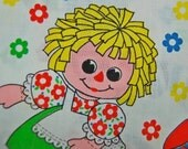 VINTAGE OOP 60s Raggedy Ann Andy doll fabric